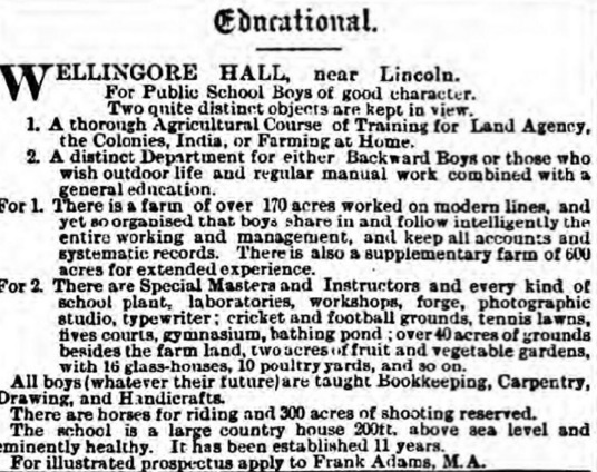 Wellingore Hall (British Newspaper Archive)