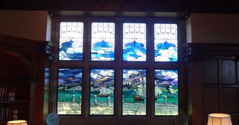 Stained Glass Window at Dunsley Hall (House and Heritage)