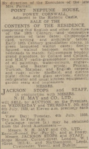 Auction Notice (1939)