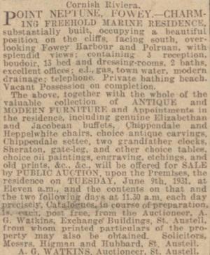 Sale Notice 1931