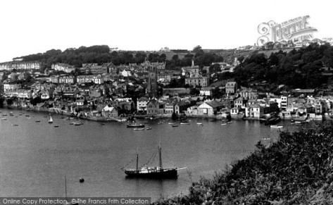 Fowey from Hall Walk c1950 (Francis Firth)