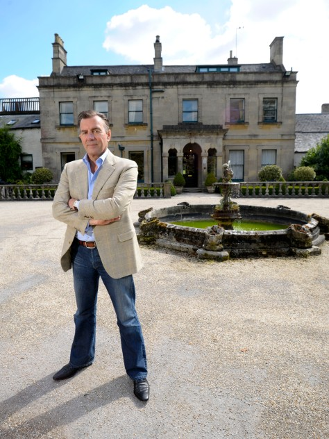 Duncan Bannatyne at the Charlton House Hotel in Shepton Mallet, Somerset.