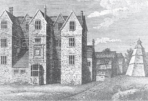 Breadsall Priory about 1787 (Derby Local Studies Library)