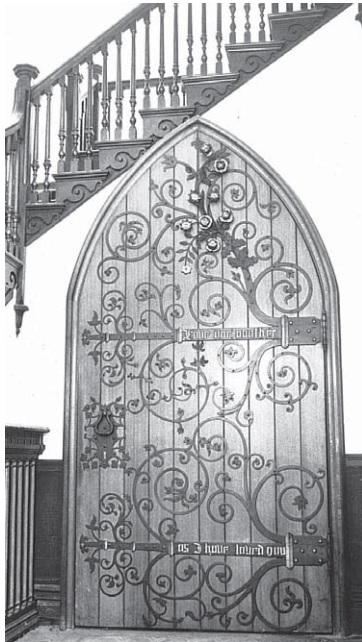 Chapel door made by William Haslam for 1851 Great Exhibition. Installed at Breadsall Priory in 1900 (Keith Pollard Photography)