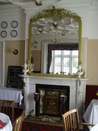 Original fireplace in main dining room (Maryport through the ages)