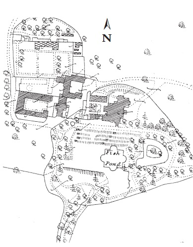 Plan of Breadsall Priory 1889 (Ordnance Survey Office)