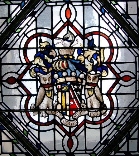 Coatofarms of Baron Airedale as seen above stairwell at Gledhow Hall