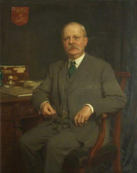 Riviere, Hugh Goldwin; Sir George Alfred Wills, Bt, Treasurer (1909-1913), Chairman of the Council (1914-1926), Pro-Chancellor (1921-1928); University of Bristol; http://www.artuk.org/artworks/sir-george-alfred-wills-bt-treasurer-19091913-chairman-of-the-council-19141926-pro-chancellor-19211928-185187