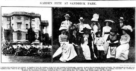 Sandbeck - Sheffield Daily Telegraph - Aug 3 1911
