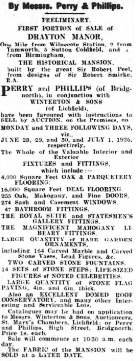 Staffordshire Advertiser 26 June 1926