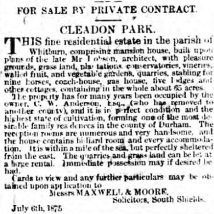 Shields Daily Gazette - Sat 10 Jul 1875 (BNA)