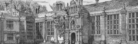 Kirby Hall - Inner Quadrangle - The Sketch - Feb 4 1882 (BNA)