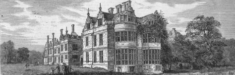 Kirby Hall - The Library Front - The Sketch - Feb 4 1882 (BNA)