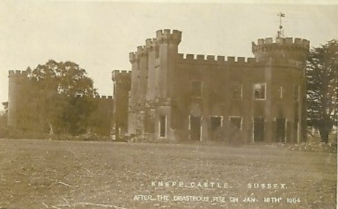 Knepp Castle - Postcard from 1904 (eBay)