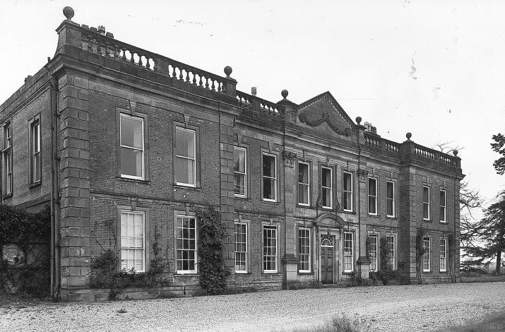 Oakley Hall in 1960s (Staffordshire County Council)