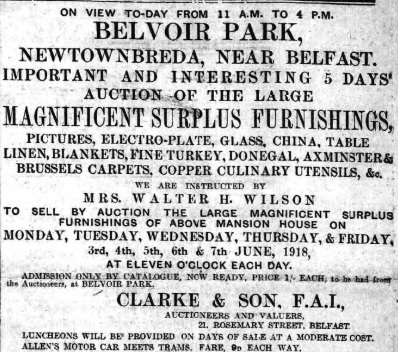 Belfast News-Letter 1 Jun 1918 (BNA)