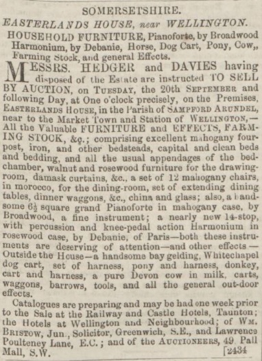 Dorset County Chronicle - 25 Aug 1864 (BNA)