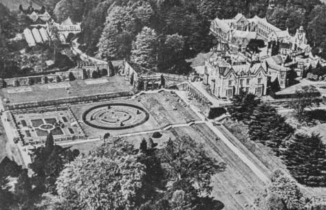 lilleshall hall - aerial mid c20 - shropshire history 9