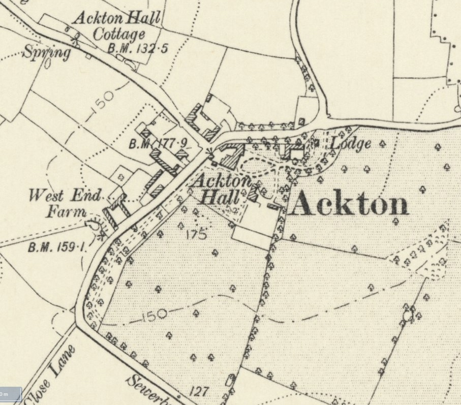 Ackton Hall Map - NLS