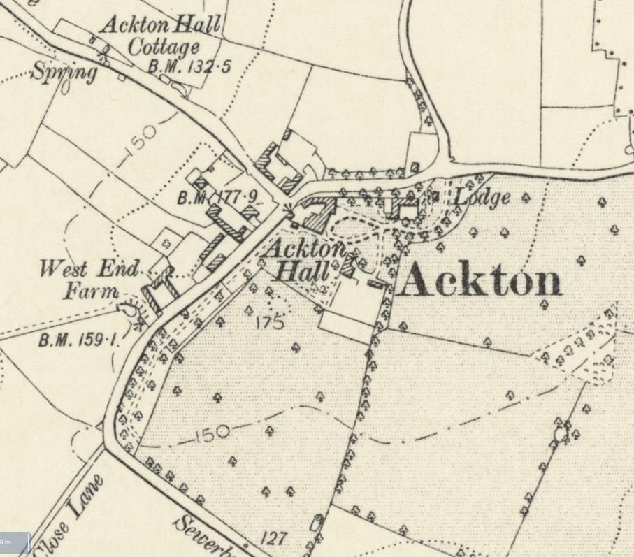 Ackton Hall Map - NLS