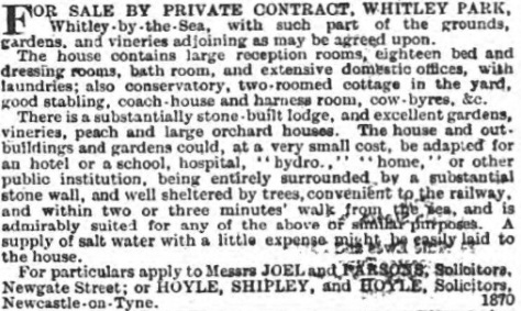 Whitley Park Hotel - Newcastle Journal - Sat 6 May 1893 - BNA